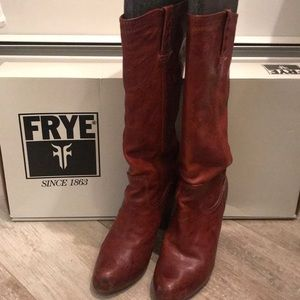 Tall Brown Frye Boots Size 9